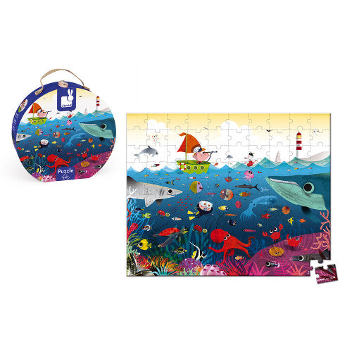 Round Suitcase Puzzle Underwater World