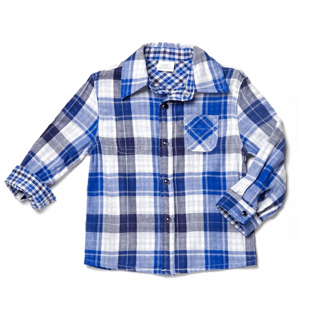 Reversible Plaid Check Shirt
