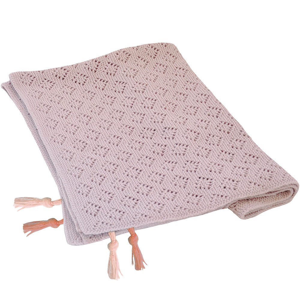 Pointelle Blanket Lila Powder
