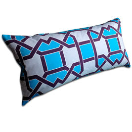 Weave Tile lumbar pillow in Turquoise