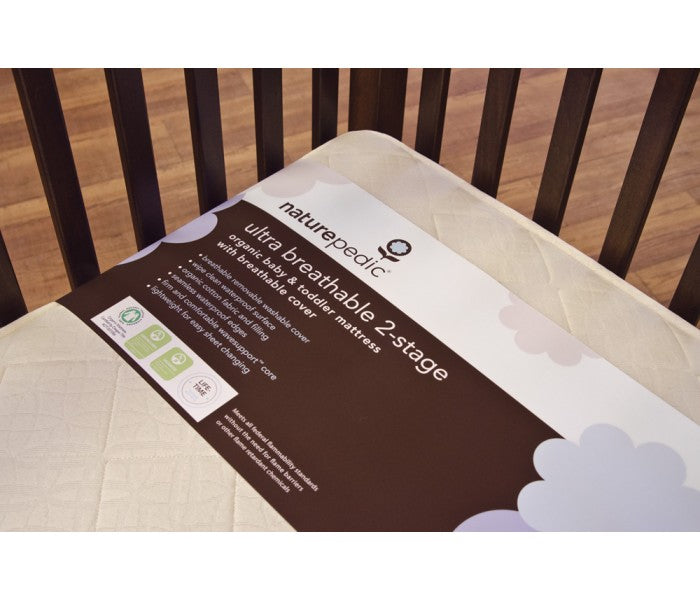 Ultra Breathable 2-Stage Organic Crib Mattress