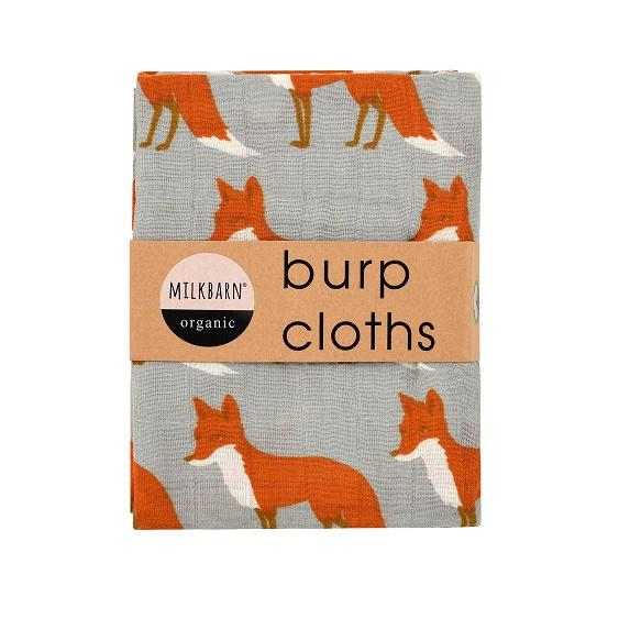 Organic Cotton Burpies Orange Fox