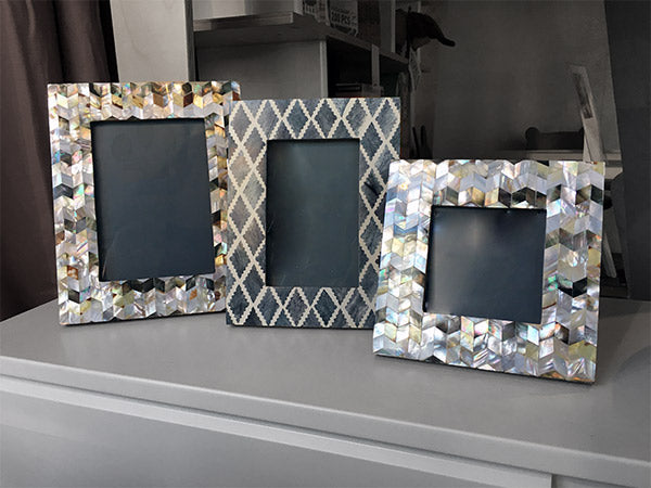 Slate Patterned Frames