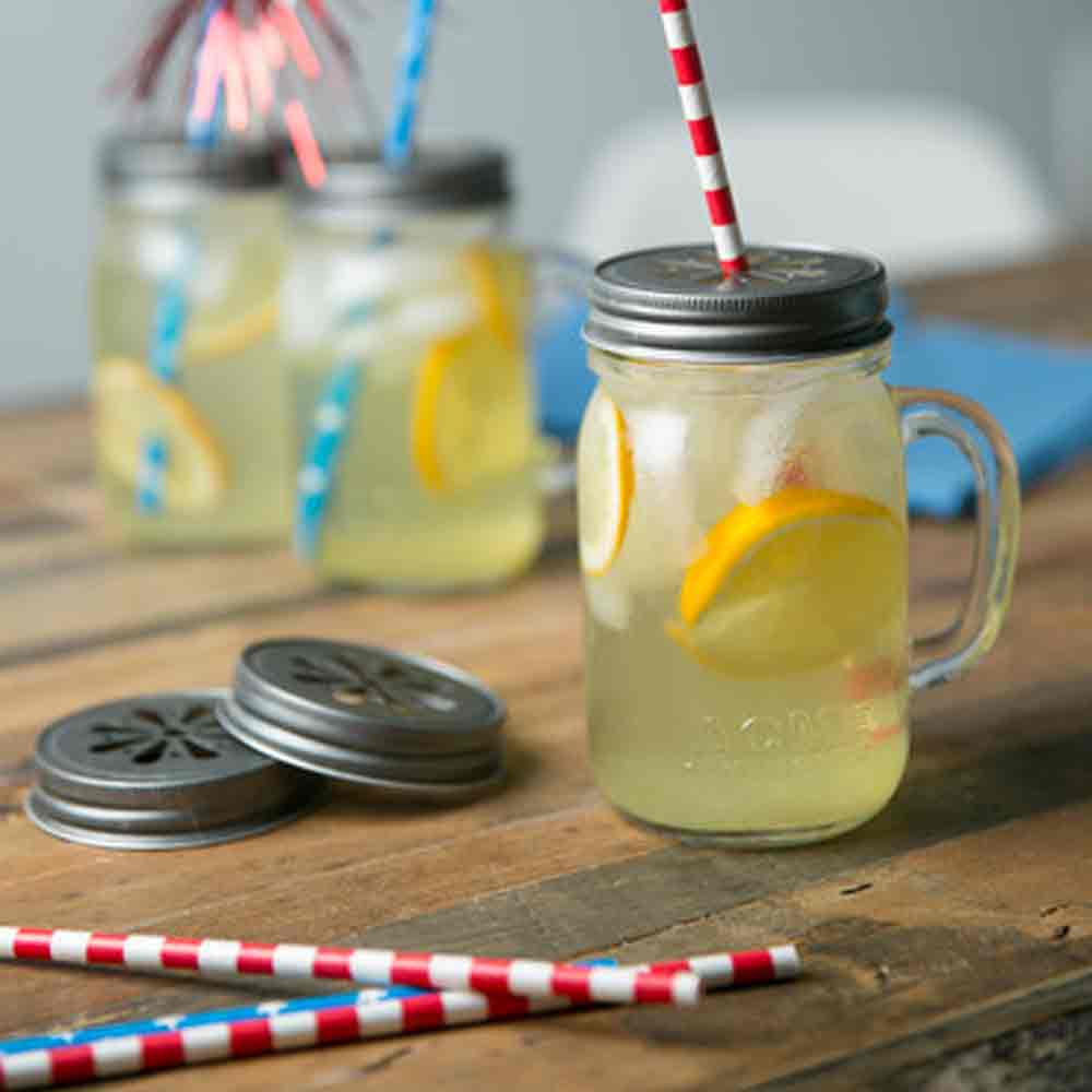 Stars and Stripes Paper Straws