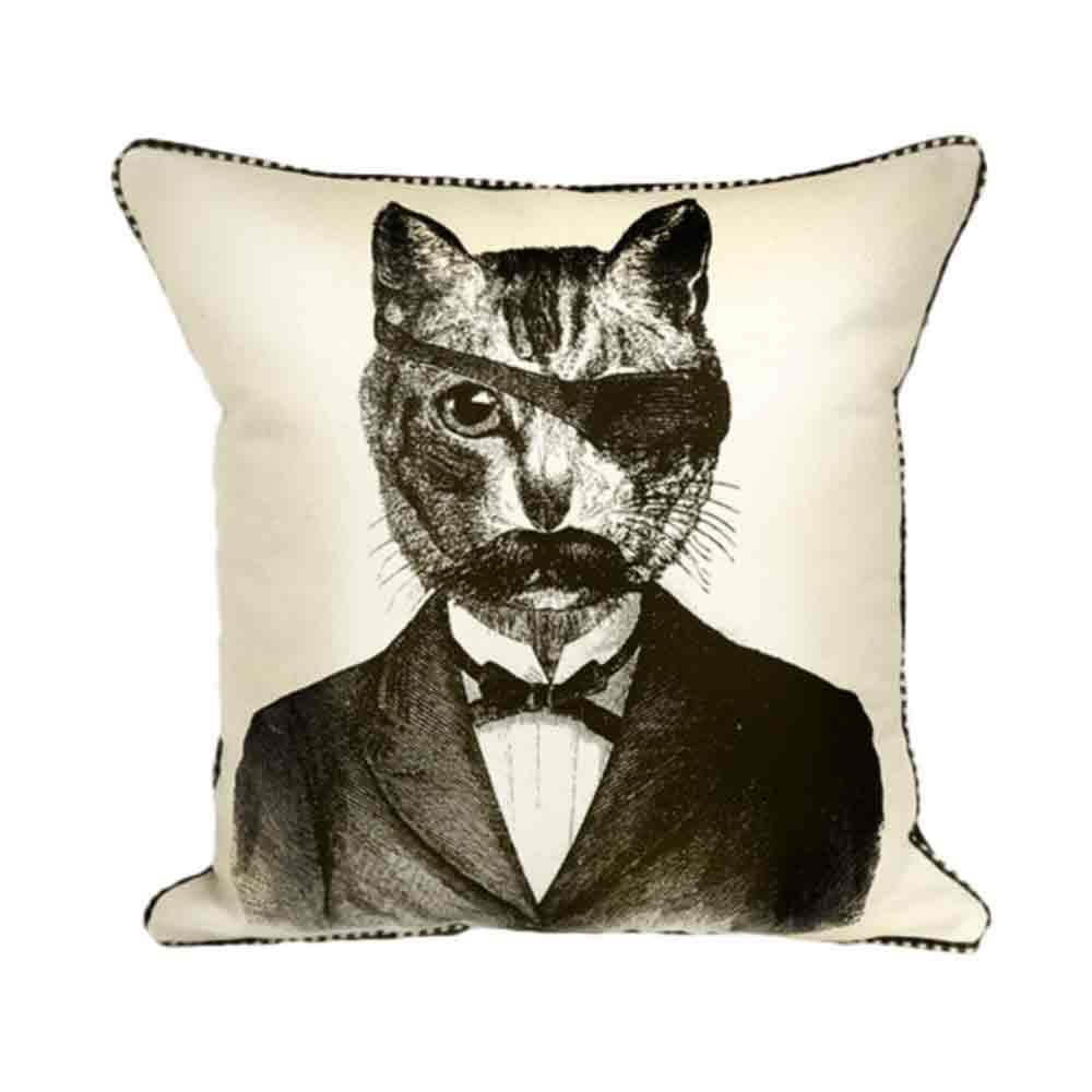 Bandit Cat Pillow