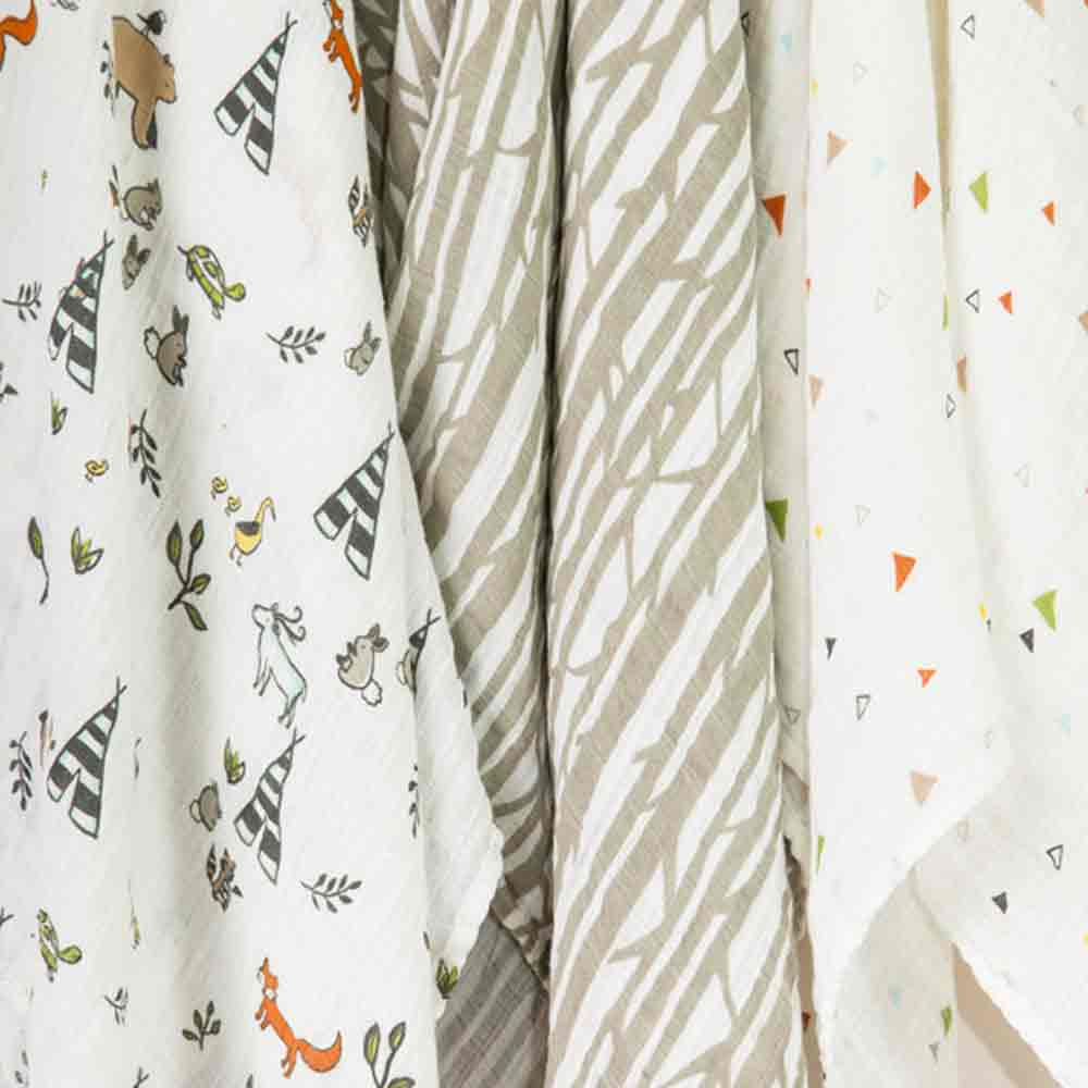 Forest Friends Cotton Swaddle Set