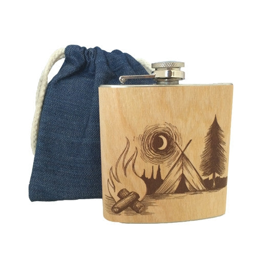 Campfire Wood Flask
