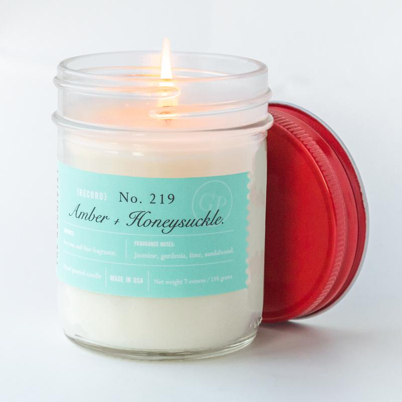 Amber + Honeysuckle 7 oz. Archivist Candle