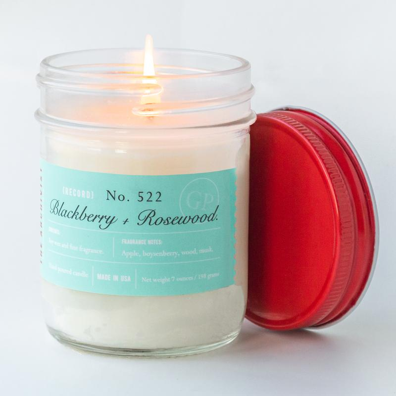 Blackberry + Rosewood 7 oz. Archivist Candle
