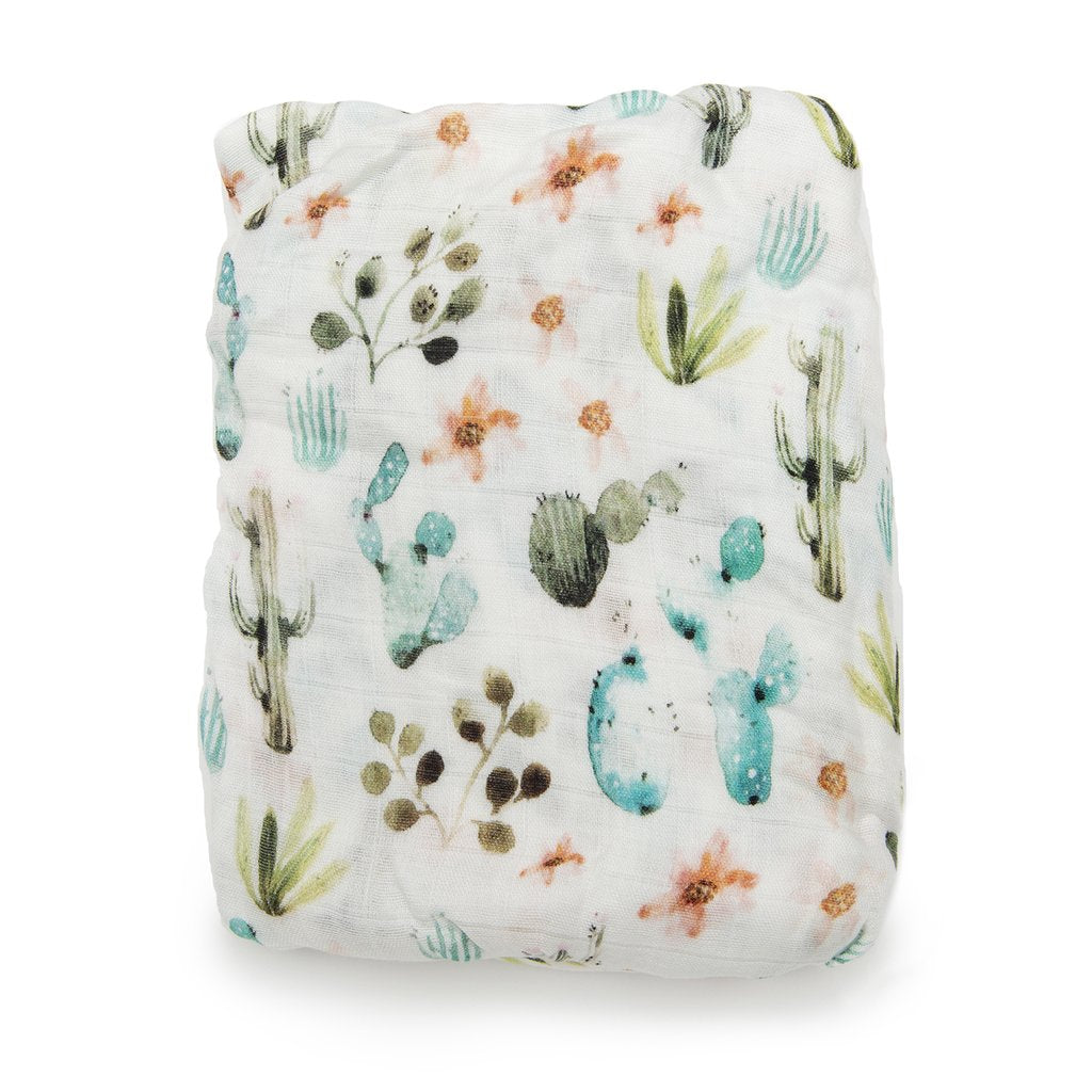 Fitted Muslin Crib Sheet - Cactus Floral