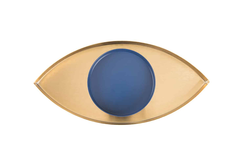 TheEye Gold and Blue Metal Trays