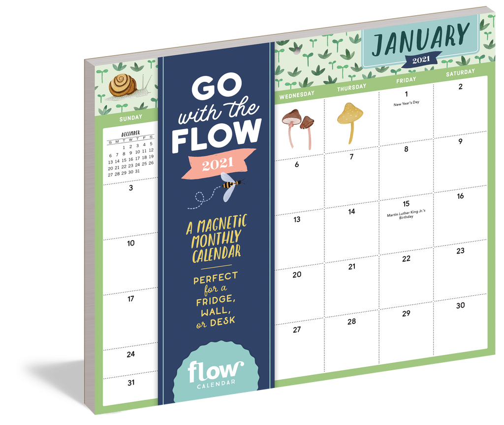 Go with the Flow: A Magnetic Monthly Calendar 2021