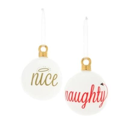 Naughty and Nice Christmas Ornaments