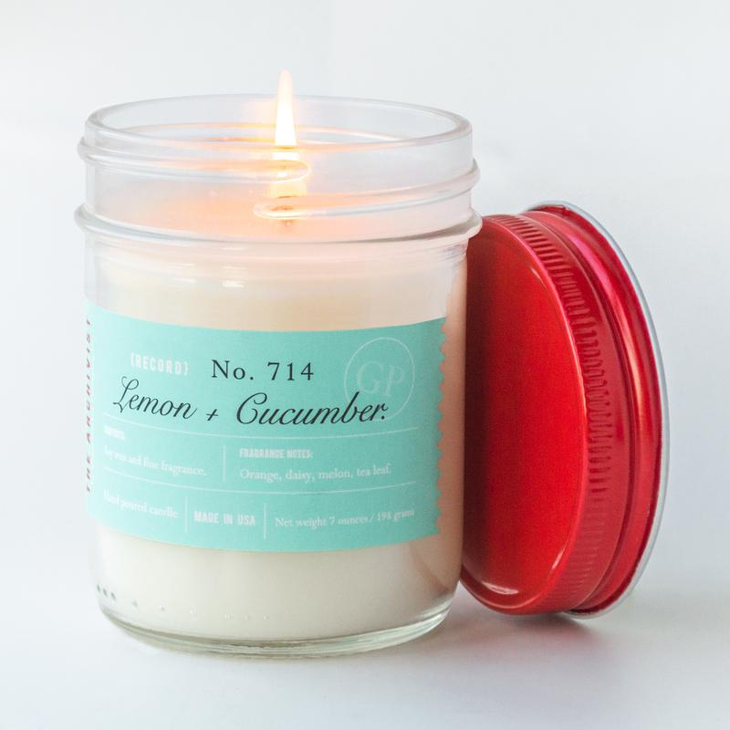 Lemon + Cucumber 7 oz. Archivist Candle