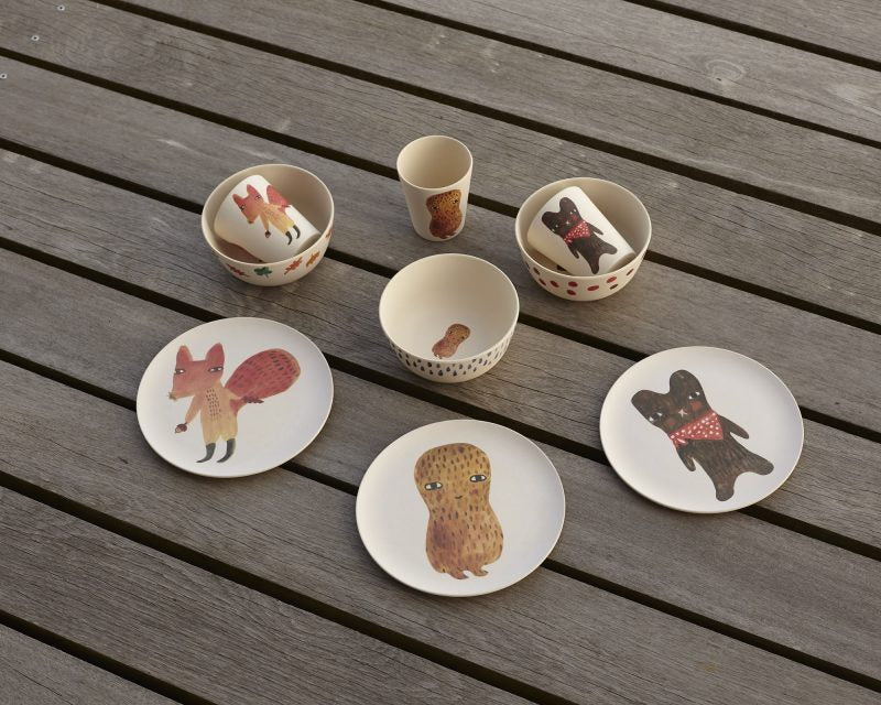Squirrel Bamboo Plate
