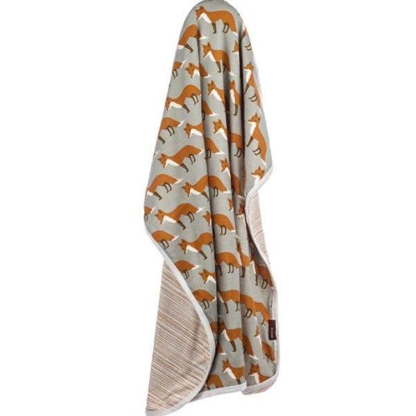Organic Stroller Blanket Orange Fox