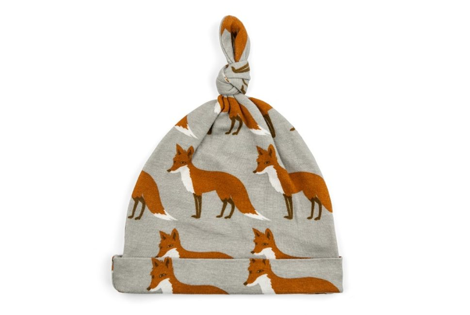 Organic Knotted Hat Orange Fox