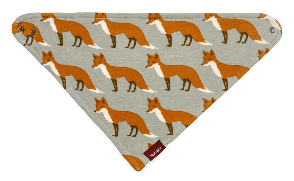 Organic Orange Fox Kerchief Bib