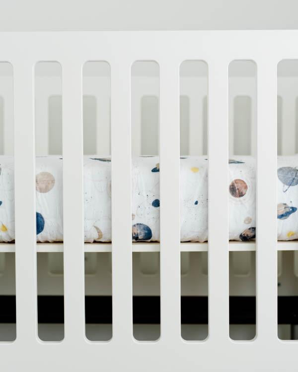 Percale Planetary Crib Sheet