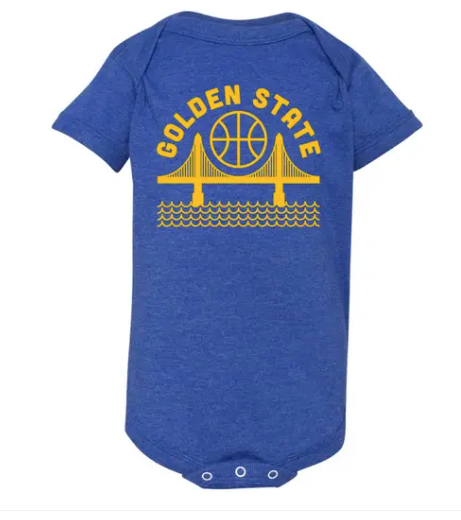 Golden State Baby Onesie Blue