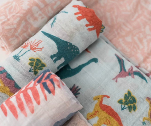 Jurassic Park Swaddle Set (3) Cotton Muslin