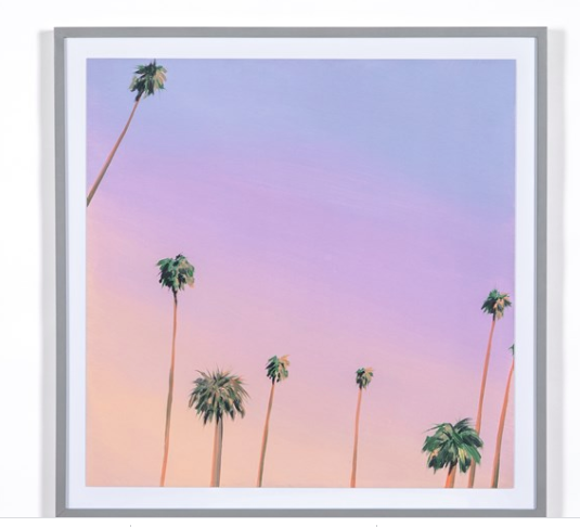 Purple Palms by Kristin Moore