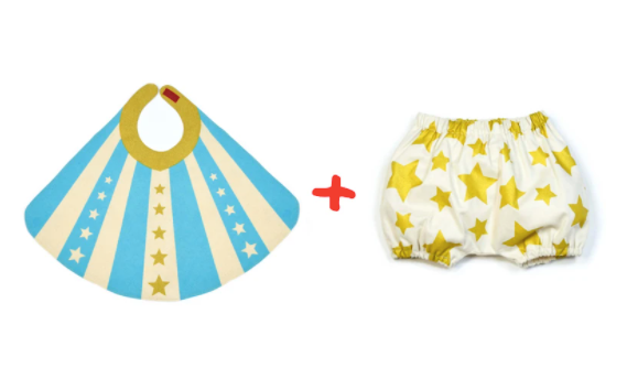 Blue Baby Hero Cape & Bloomer Set