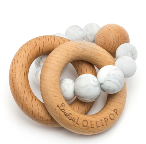 Bubble silicone teether