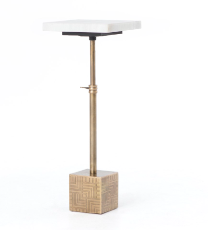 Sirius Adjacent Side Table Brass / Marble