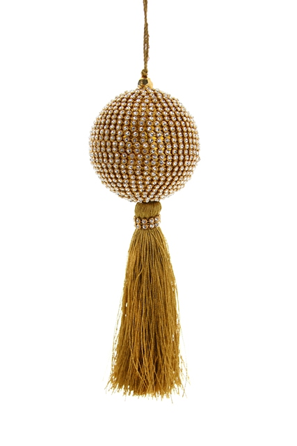Crystal Ball with Tassel Ball Ornament