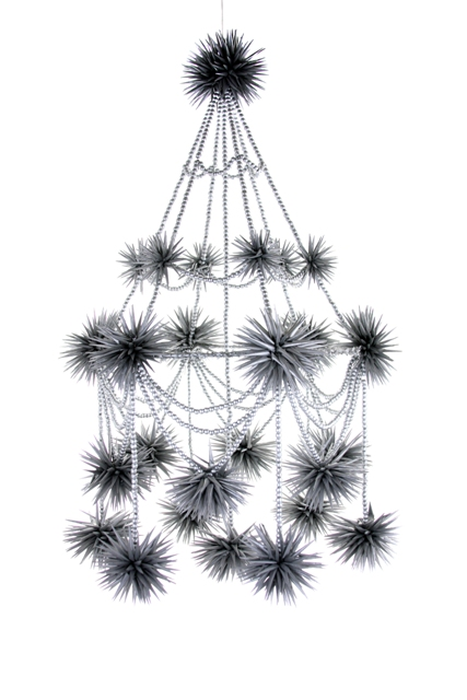 Silver Beaded Pajaki Chandelier