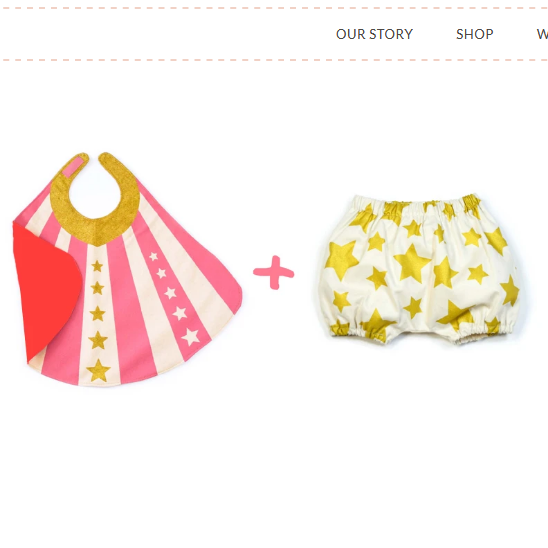 Pink Baby Hero Cape & Bloomer Set