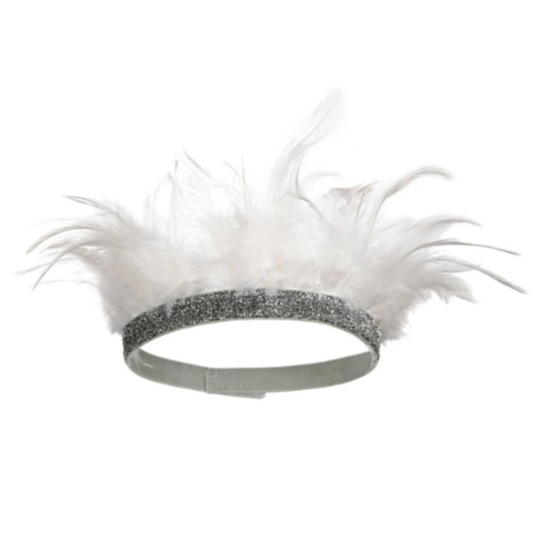 White Feather Party Crown