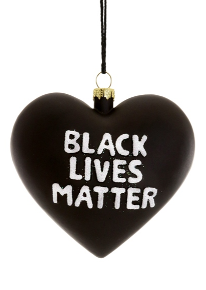 Black Lives Matter Heart Ornament