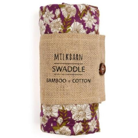 Bamboo Swaddle Teal Floral