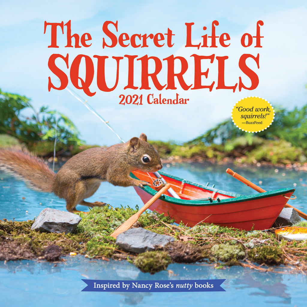The Secret Life of Squirrels Wall Calendar 2021