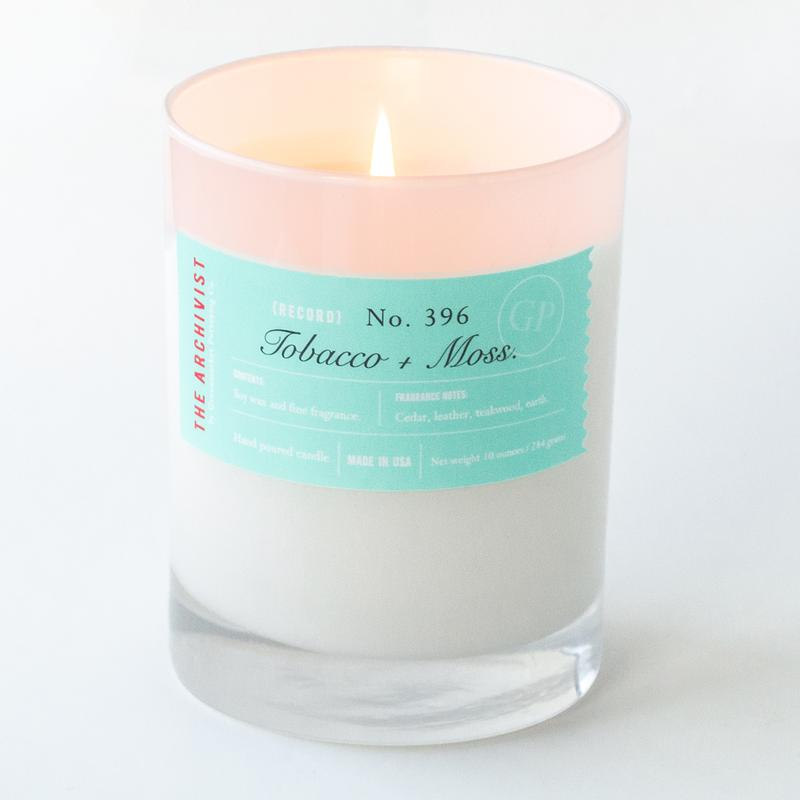Tobacco + Moss 10 oz. Archivist Candle
