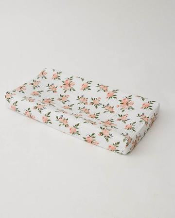 Watercolor Roses Changing Pad Cover