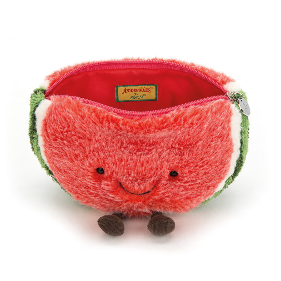 Amuseables Watermelon Zip Bag