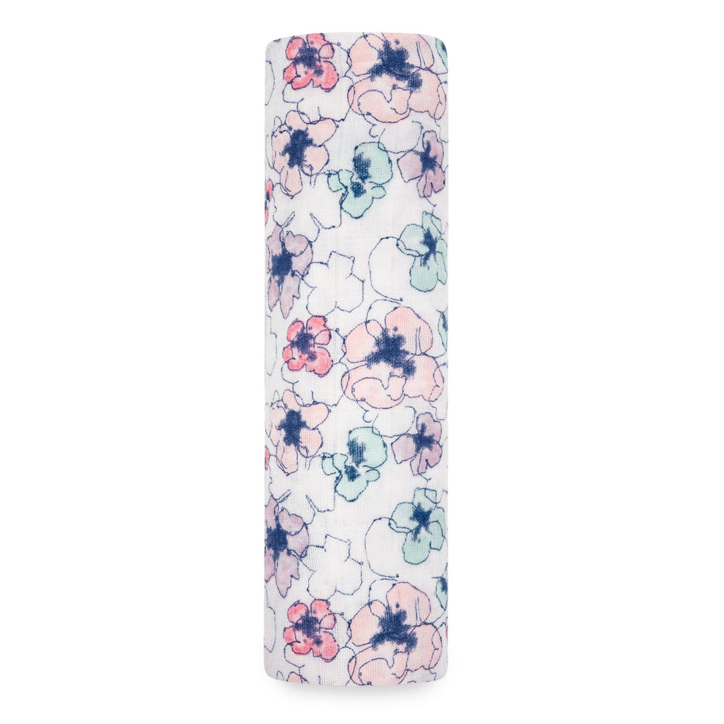 Trail Blooms Classic Muslin Swaddle