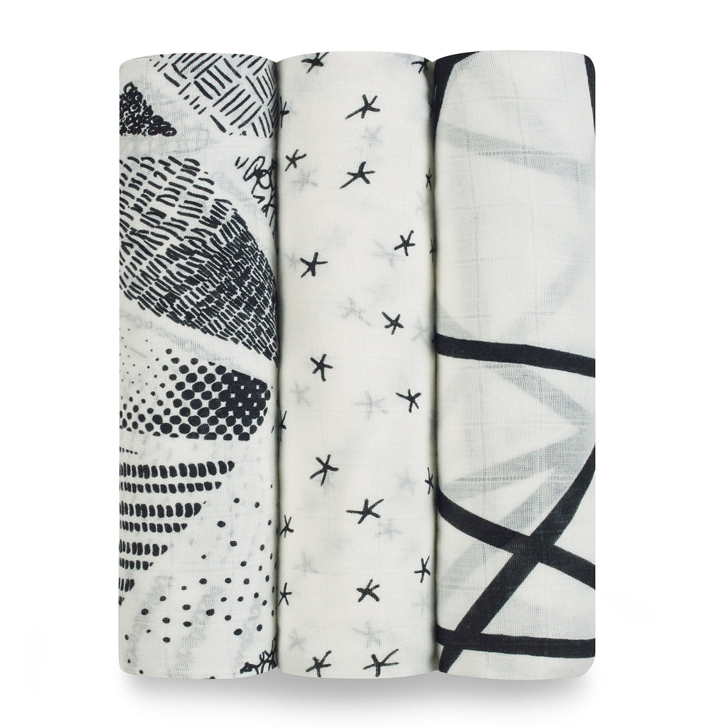 midnight silky soft swaddle 3-pack