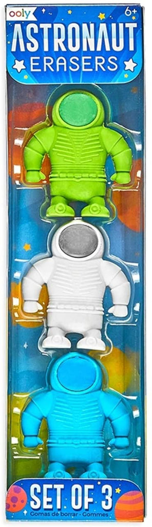 Astronaut Erasers - set of 3