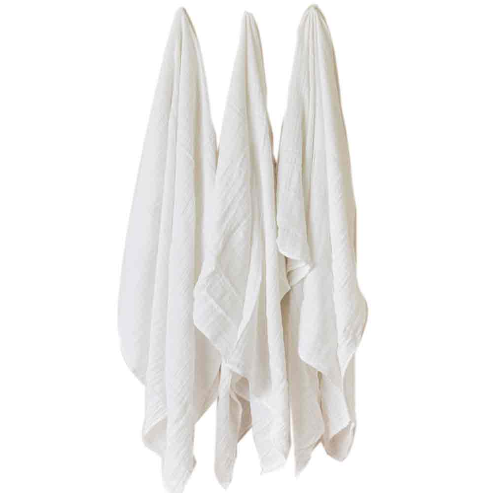 White Cotton Swaddle Set