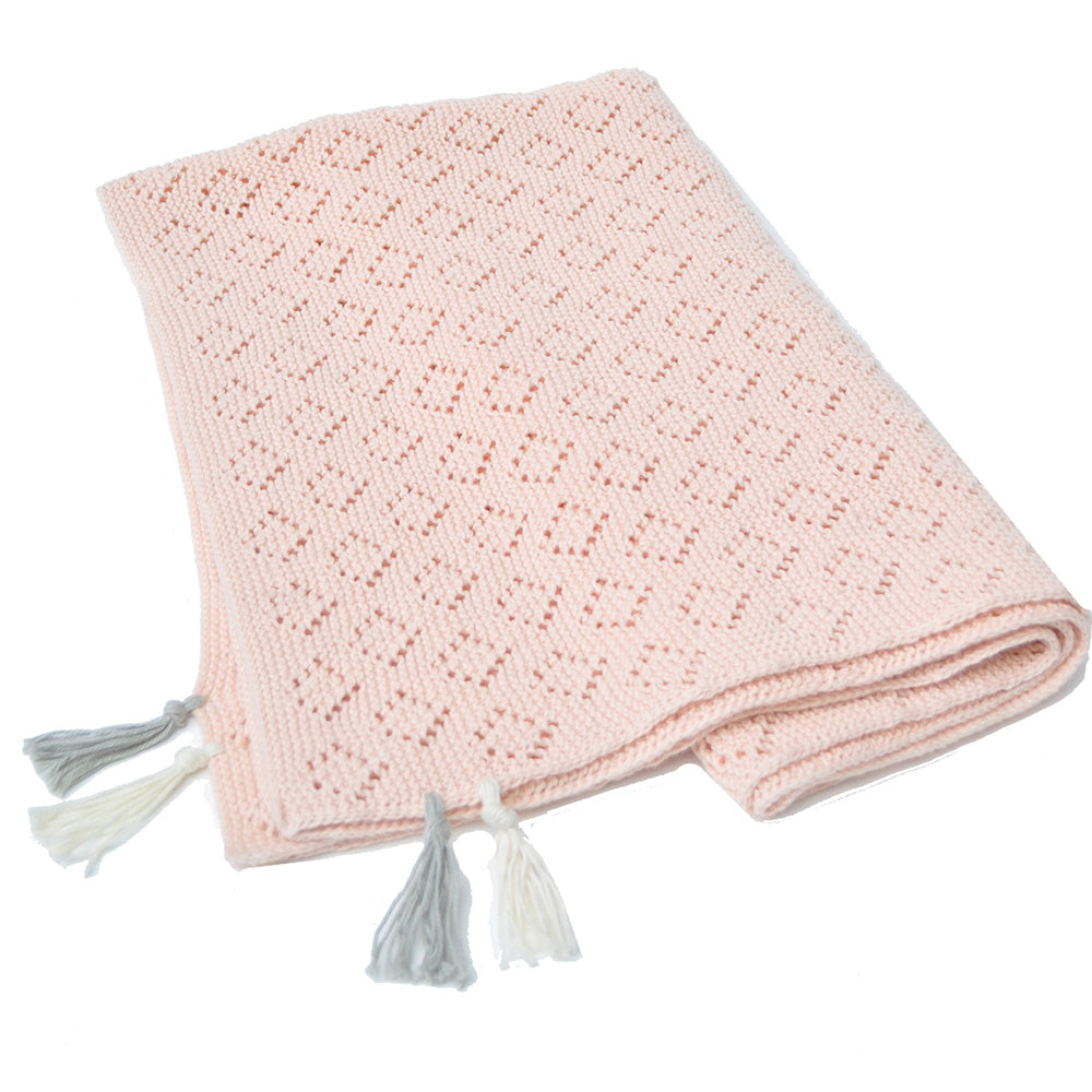 Pointelle Blanket Blush