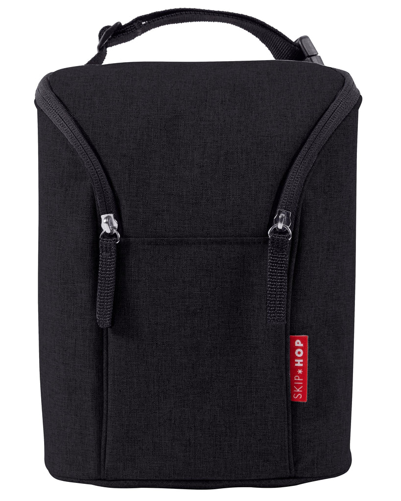 Grab & Go Black Double Bottle Bag