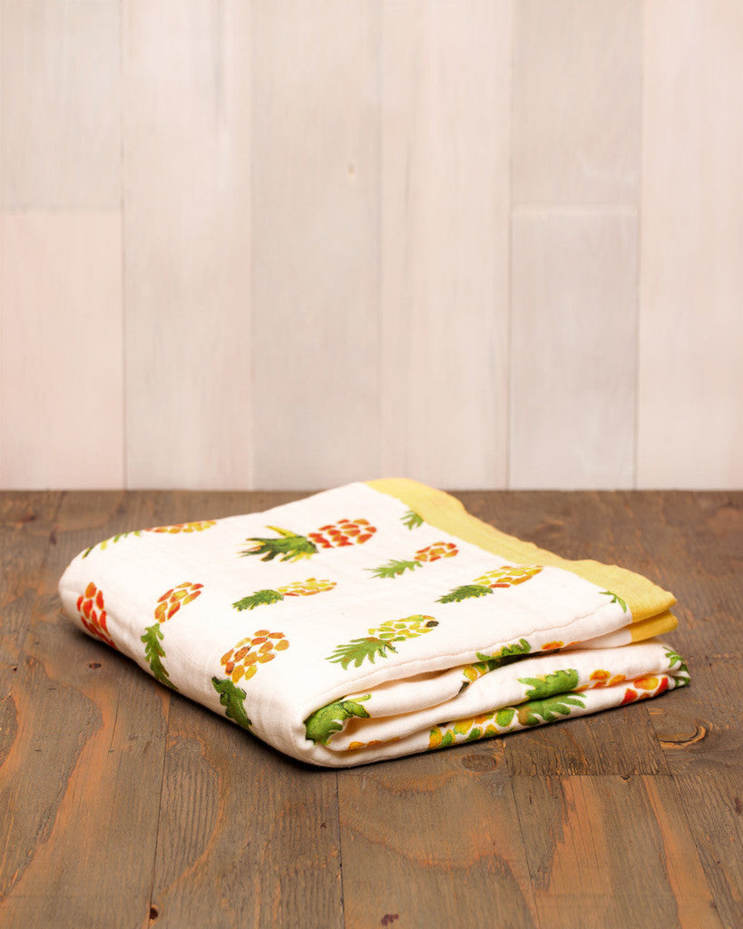 Pineapple Cotton Muslin Quilt