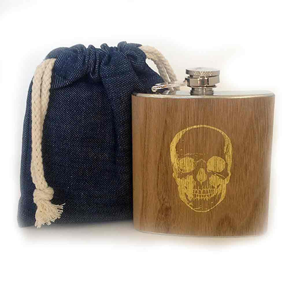 Flasks with Denim Bag