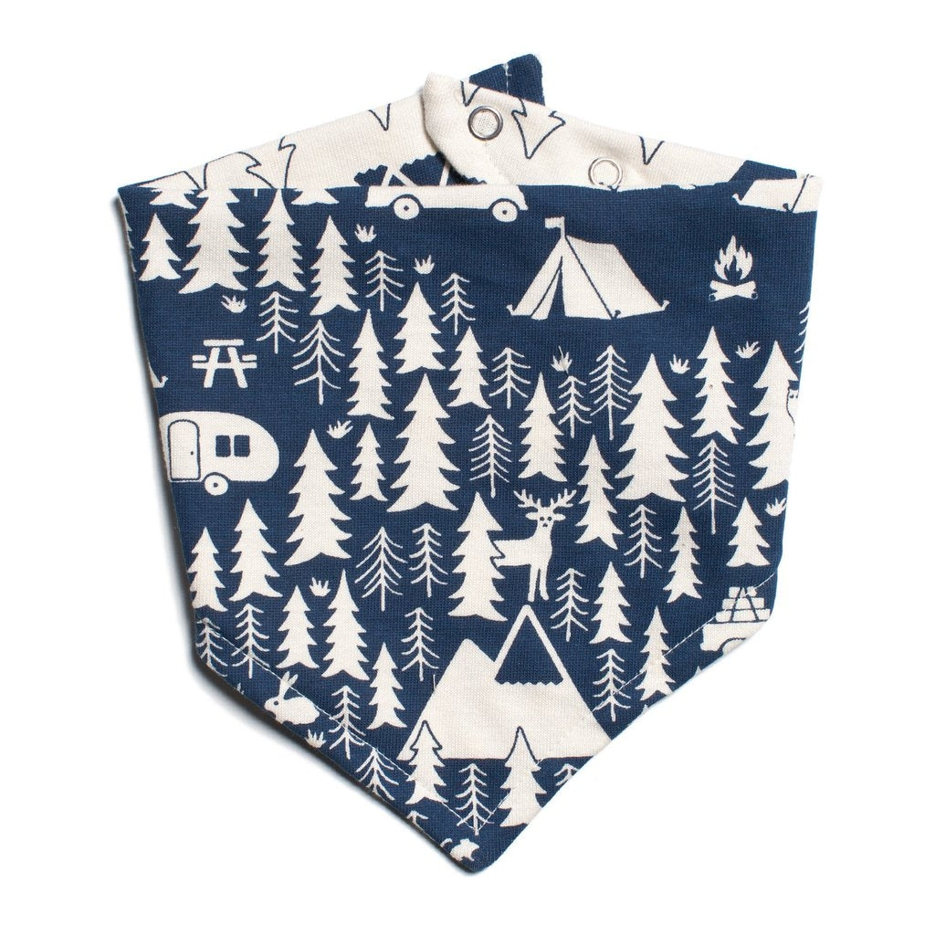 Campground Navy Kerchief Bib