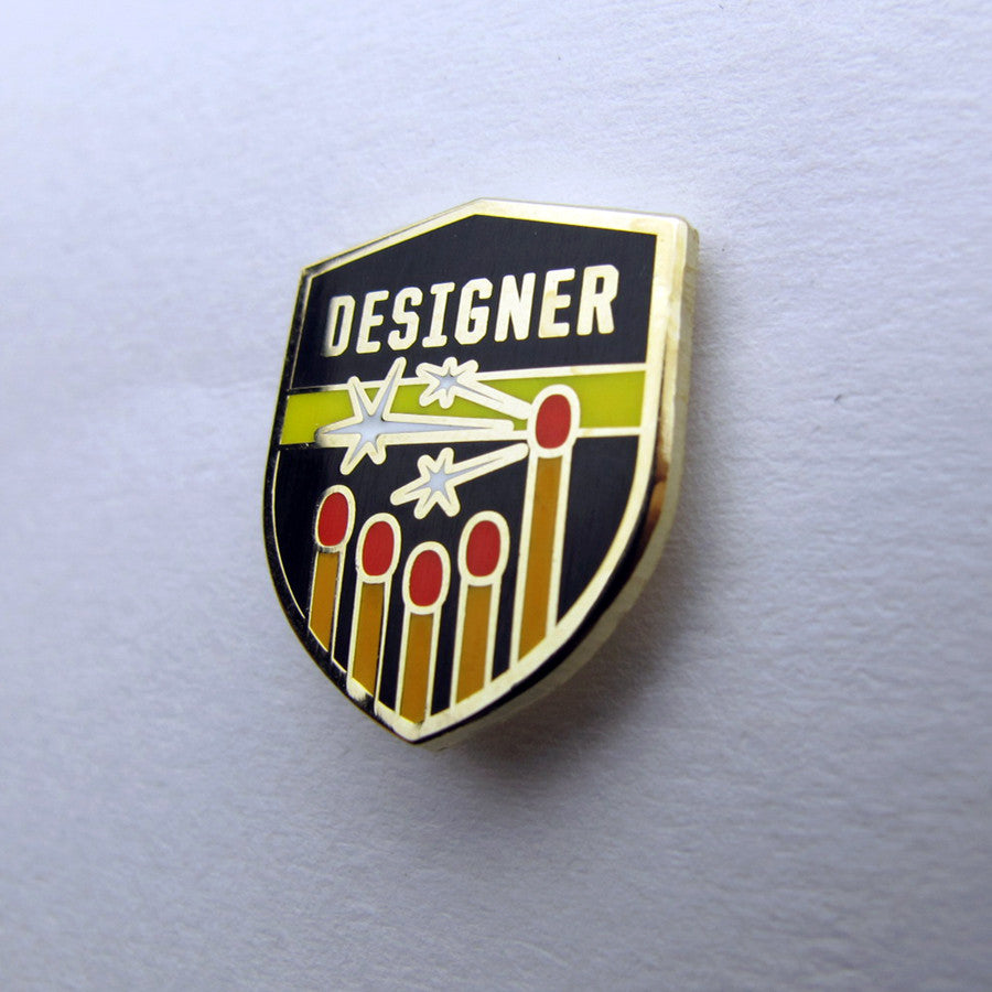Designer, Thinker, Maker Pin set