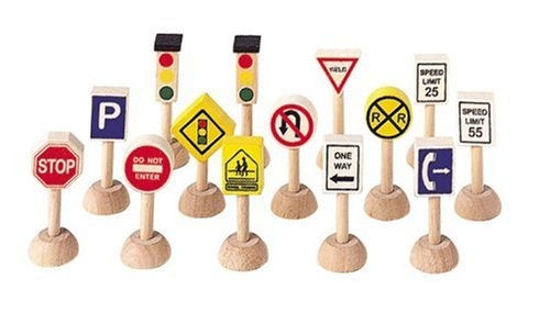 Set of Traffic Signs and Lights